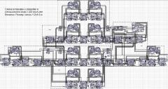 Макет тренажёр. Автор - Ершов Сергей Александрович. Размер макета - 1,1х3,4 м. Масштаб H0.